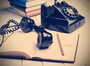 telefono retr di colore nero