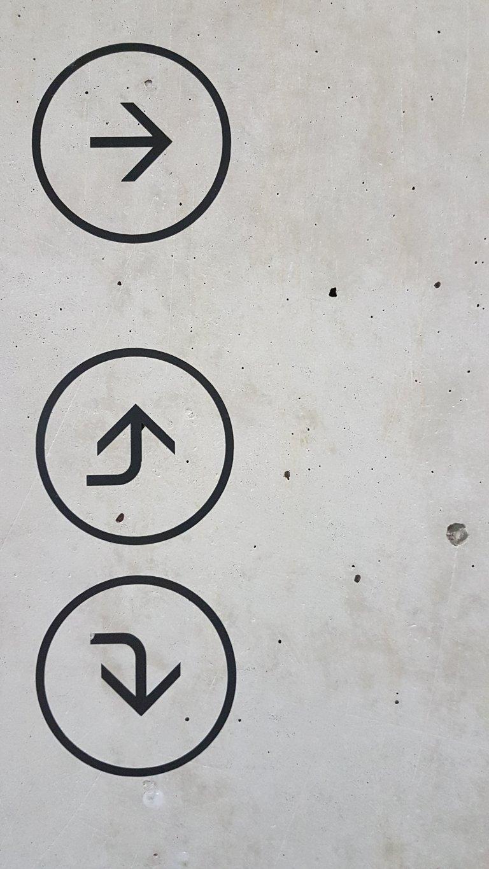 Direction tout droit avant arriere